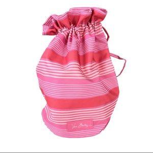 Vera Bradley Lighten Up Ditty Bag, Pink Stripe